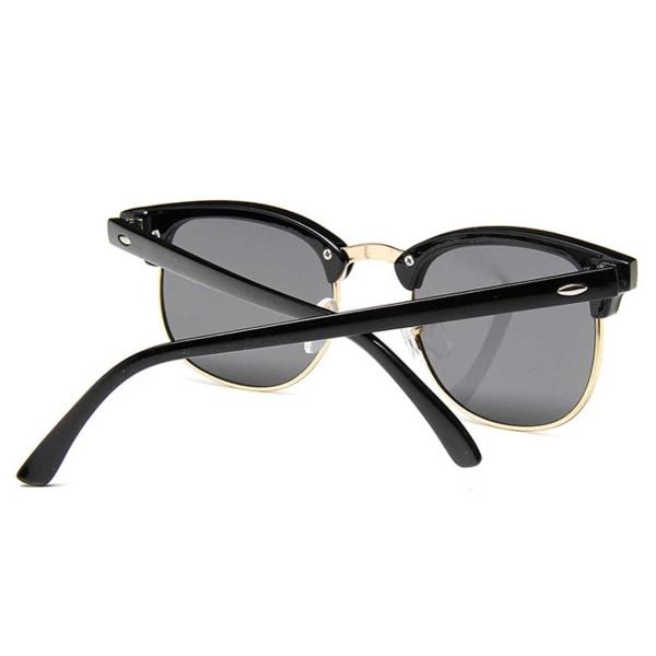 Svarta Clubmaster Solglasögon Mörkt Glas svart