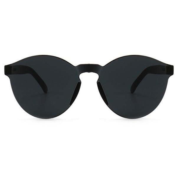 Svarta Kantlösa Solglasögon Mörkt Glas svart