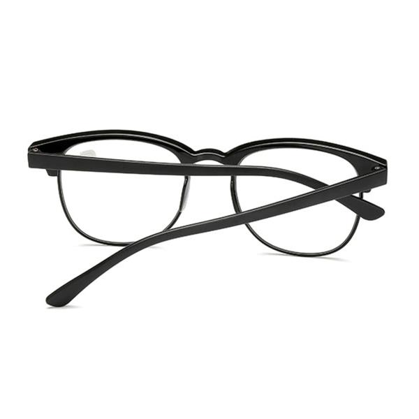 Svarta Clubmaster Läsglasögon Styrka 1.0 Glasögon svart
