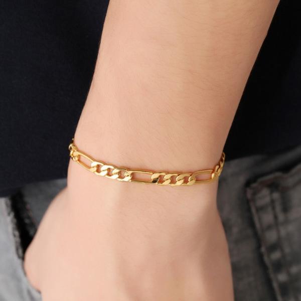 Armband Länk/Kedja i Guld 5mm Herrarmband guld