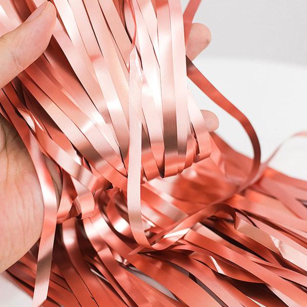 Metallic Roséguld Glitterdraperi för Fest Födelsedag guld