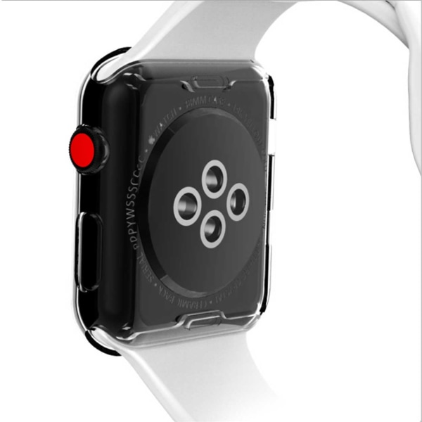 Heltäckande TPU Skal Case Apple Watch 1/2/3 Skärmskydd 38mm transparent