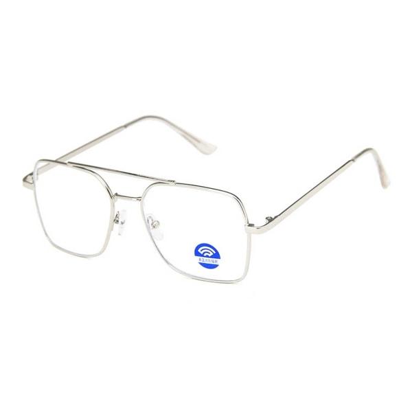Silver Aviator Datorglasögon med Blåljusfilter utan Styrka silver