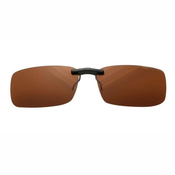 Clip-on Solglasögon Brun - Fäst på befintliga Glasögon! brun