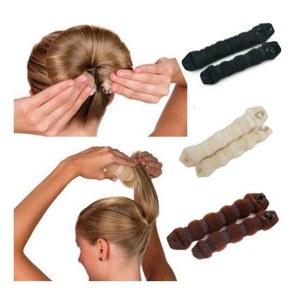 Hair Bun Verktyg Håraccessoar för Hårbulle brun
