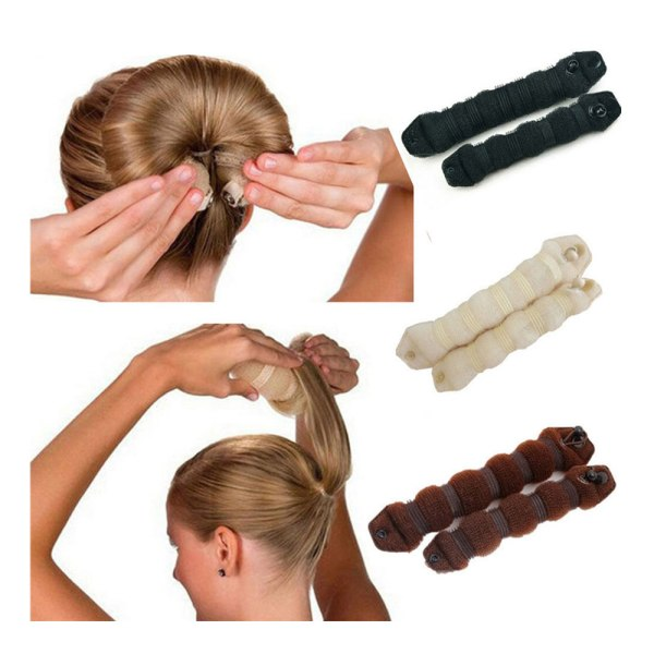 Hair Bun Verktyg Håraccessoar för Hårbulle svart