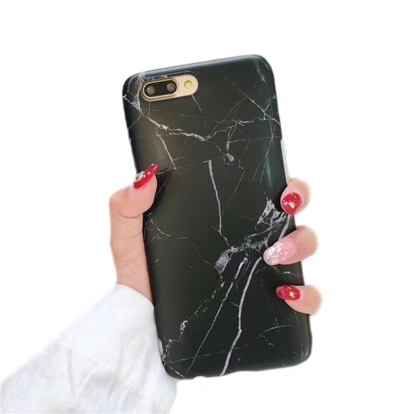 iPhone 7 8 Plus Mobilskal Svart Marmor Black Marble svart