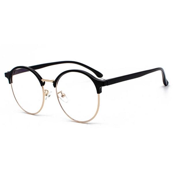 Clubmaster Datorglasögon med Blåljusfilter utan Styrka Guld svart
