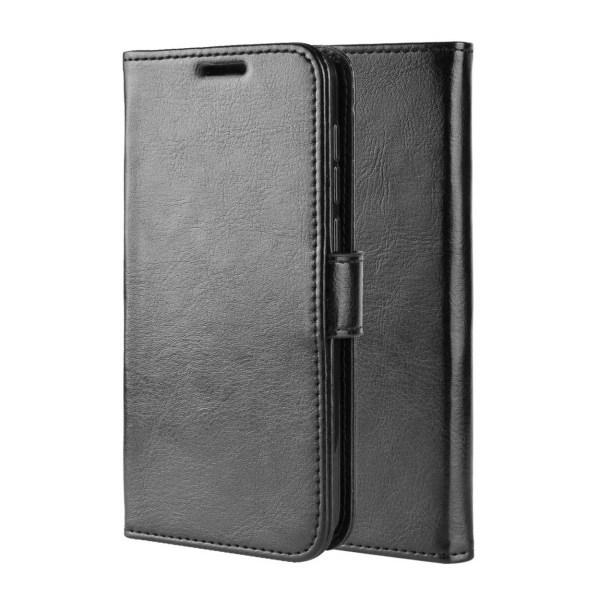 Huawei P30 Lite Plånboksfodral Svart Läder Skinn Fodral svart