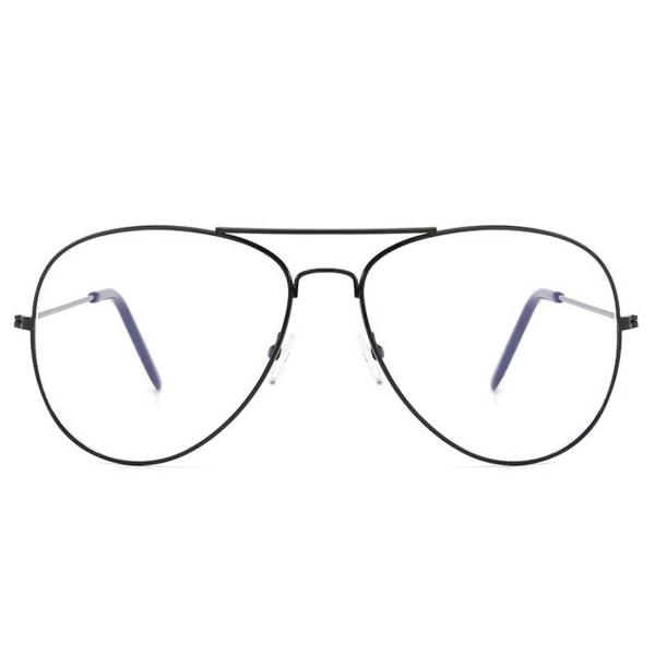 Svarta Minusglasögon Aviator Pilot Styrka -2.0 Glasögon svart
