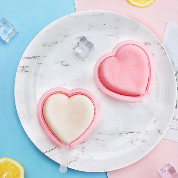 2-pack Glassform Hjärta - Gör Egna Glasspinnar Hemma rosa
