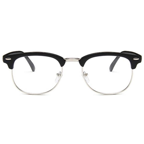 Mattsvarta Clubmaster Glasögon utan Styrka Klarglasögon svart