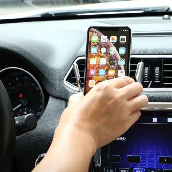 Smart Trådlös Mobilladdare med Mobilhållare för Bil svart