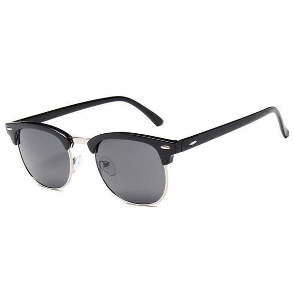 Svarta Clubmaster Solglasögon Svart Glas svart