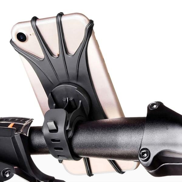 Universal Mobilhållare Cykel Cykelstyre Hållare för Mobil svart