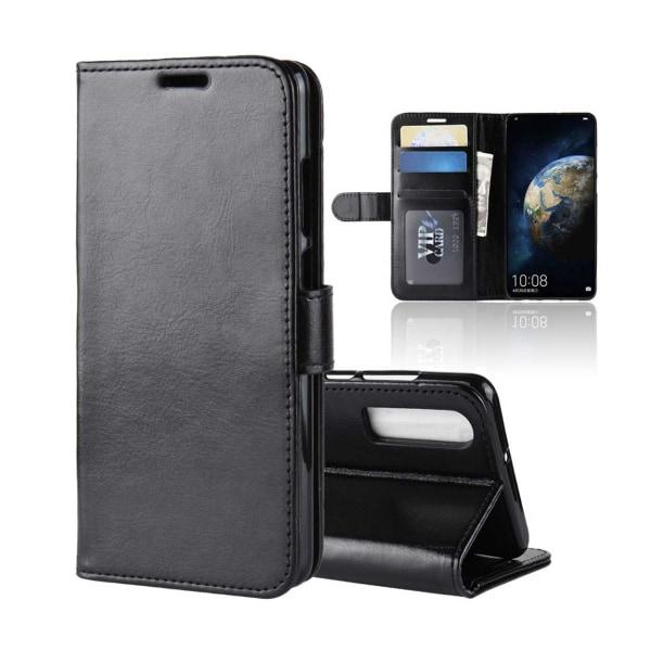 Huawei P30 Pro Plånboksfodral Svart Läder Skinn Fodral svart