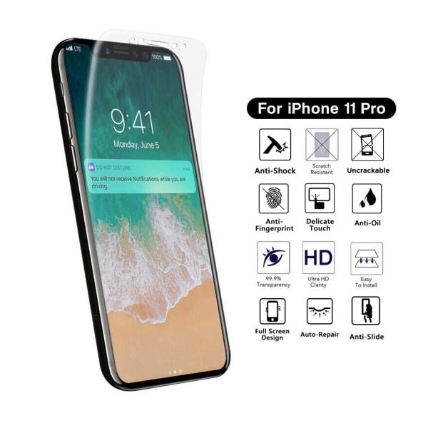 Heltäckande iPhone 11 Pro Skärmskydd Nanoedge Skyddsplast transparent