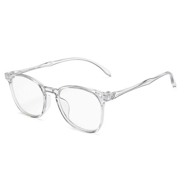 Genomskinliga Moderna Glasögon Klart Glas utan Styrka Klarglas transparent