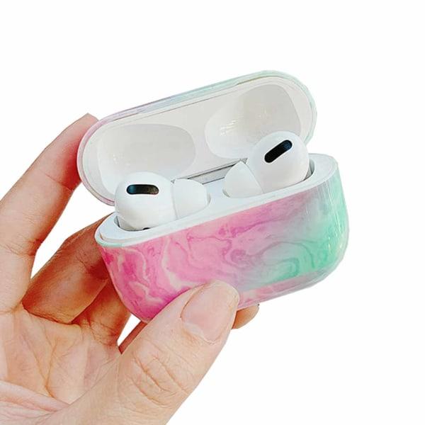 Apple AirPods Pro Case Fodral Skyddsfodral Rosa Marmor Marble flerfärgad
