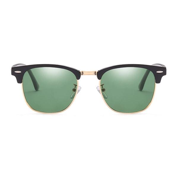 Svarta Solglasögon Clubmaster Grönt Glas svart