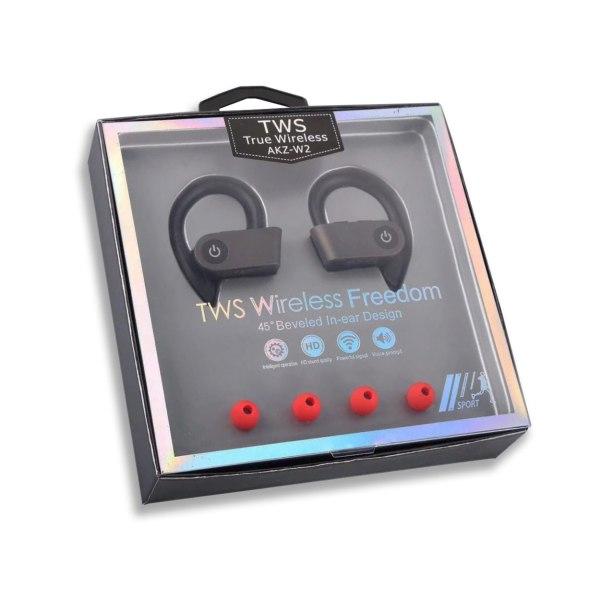 Helt Trådlösa Bluetooth Stereo In-Ear Hörlurar Sporthörlurar TWS svart