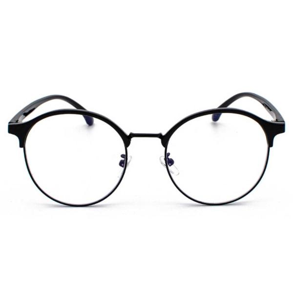 Svarta Clubmaster Datorglasögon med Blåljusfilter utan Styrka svart