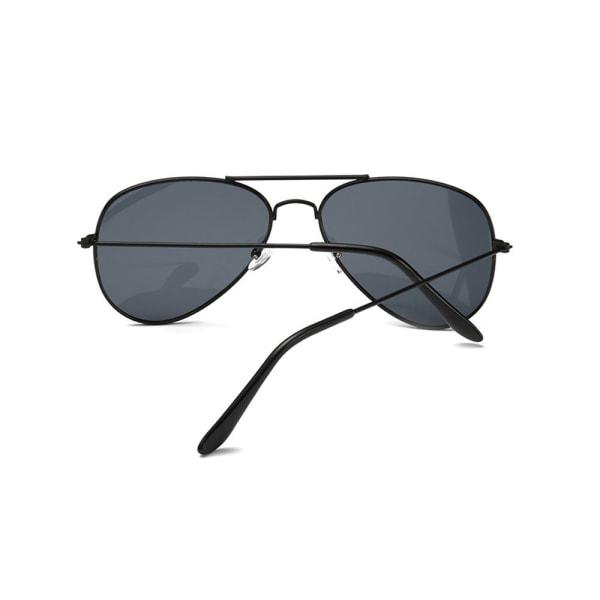 Svarta Solglasögon Pilot Avitator Svart Glas svart