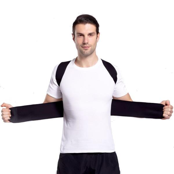 Stark Ryggväst Hållningsväst Ryggstöd för Bättre Hållning svart