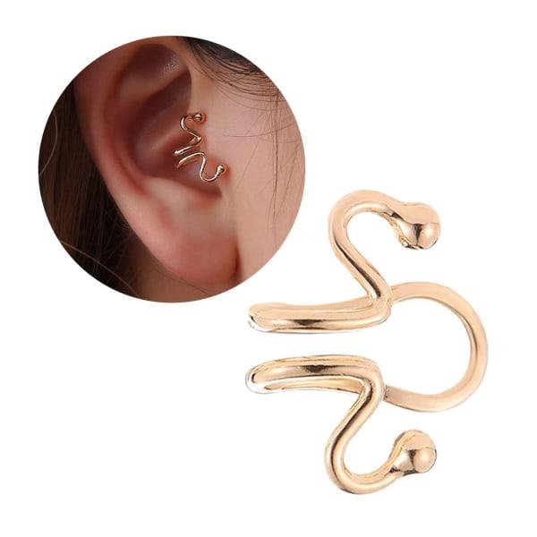 Fake Helix Tragus Piercing Öron Örhänge Ear Cuff utan Hål Guld guld