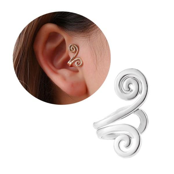 Fake Helix Tragus Piercing Öron Örhänge Ear Cuff utan Hål Silver silver
