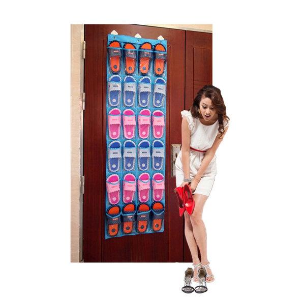 Skoförvaring för att hänga på dörr Förvaring Skohylla vit