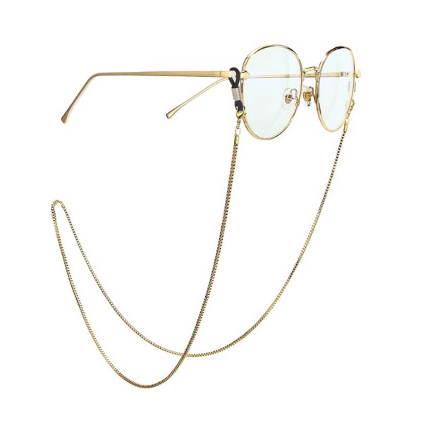 Senilsnöre Guld Kedja Glasögonsnodd Glasögonsnöre Halskedja guld
