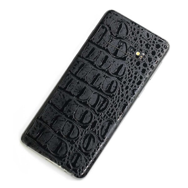 Galaxy S10 Plus Skinn Läder Vinyl Skin Dekal Skyddsfilm svart