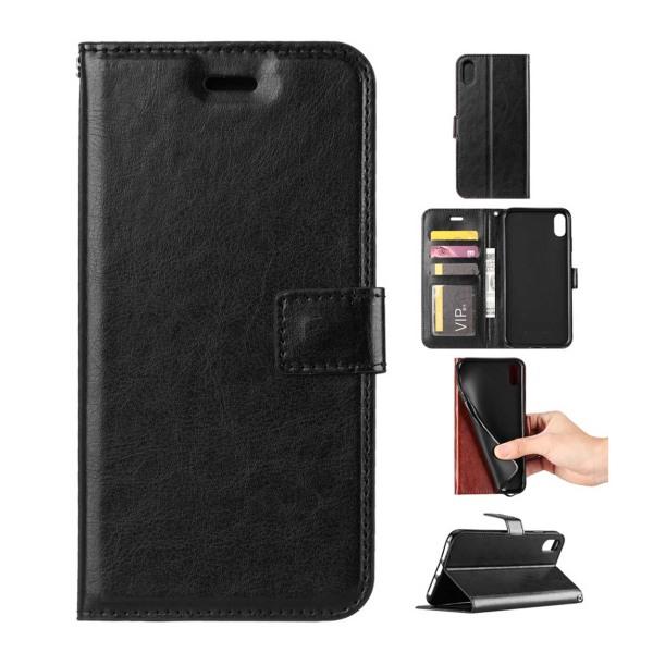 iPhone 6/7/8 Plus Plånboksfodral Läder Skinn Fodral Svart svart