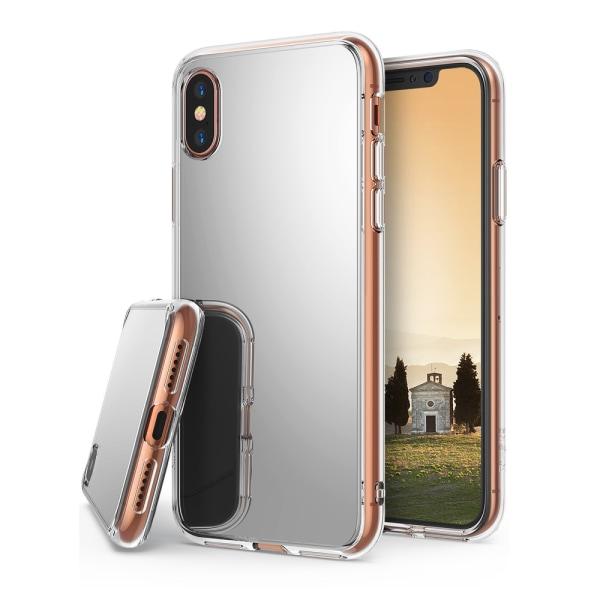 iPhone X Spegel Skal Fodral TPU Bumper silver