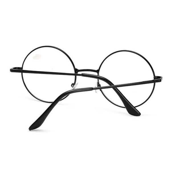 Retro Runda Läsglasögon Svart Styrka 3.0 Glasögon svart
