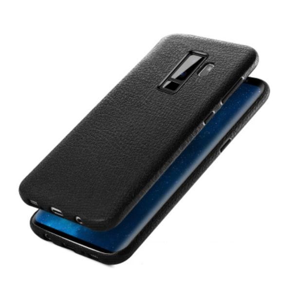 Samsung Galaxy S9 Mobilskal Svart Läder Skinn svart