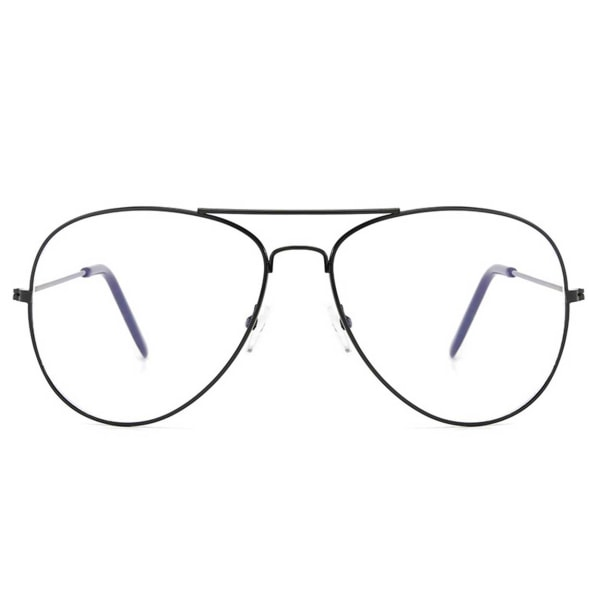 Svarta Minusglasögon Aviator Pilot Styrka -1.0 Glasögon svart