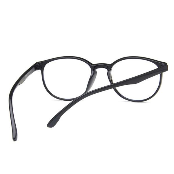 Svarta Runda Datorglasögon med Blåljusfilter utan Styrka svart