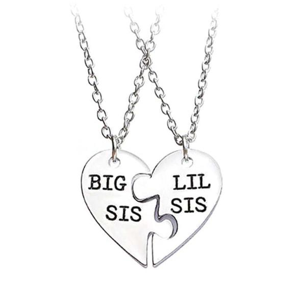 Vänskapshalsband för Systrar Systerhalsband Kompishalsband silver