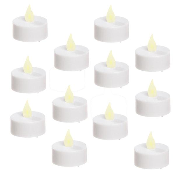 Värmeljus 12-pack LED med varmvit flimrande vacker låga