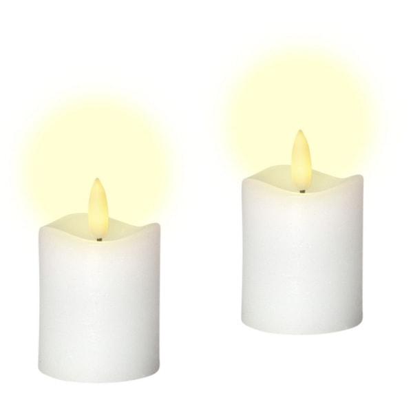 2 söta LED Votivljus, verklighetstrogen låga, Flamme med TIMER