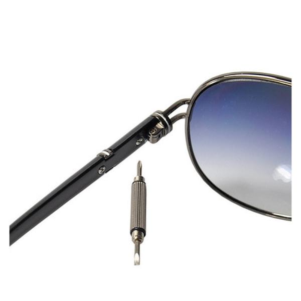 Glasögon-Skruvmejsel, flat, kryss, hylsa på nyckelring