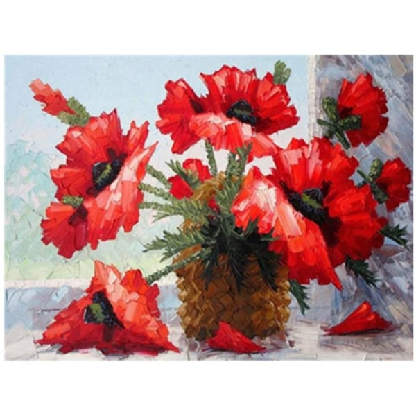 5D DIY Diamond Painting Oil Painting Vases Full Round Broderi Cr Som på bilden 1