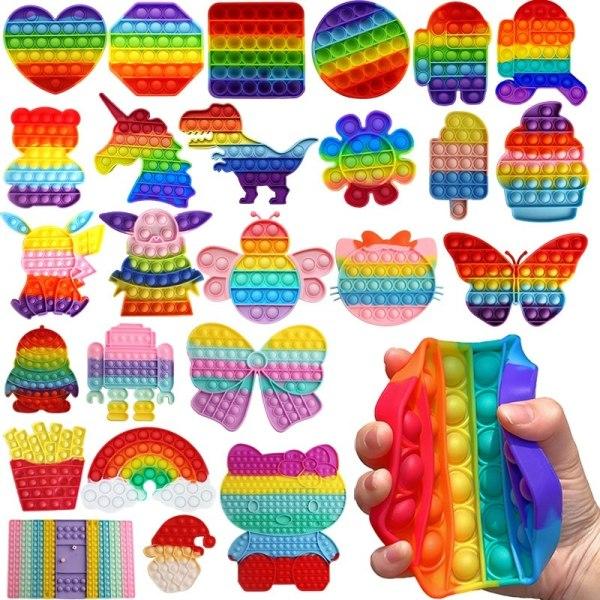 fidget toys pop it leksak sensory fjäril 17cm