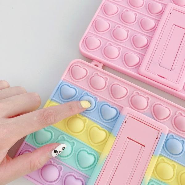 fidget toys pop it regnbåge skal för IPAD mini 1/2/3