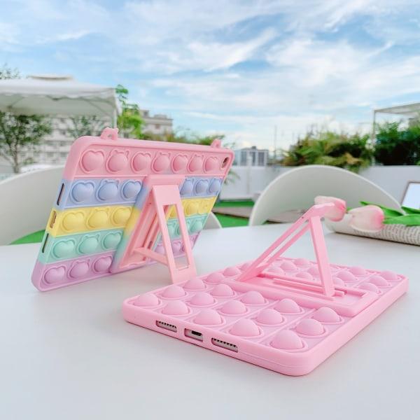 fidget toys pop it regnbåge skal för IPAD 5/AIR1/9.7 2017/9.7 20