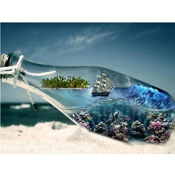 Full 5D DIY diamantmålning landskap av flaskan broderi hantverk  Som på bilden 1