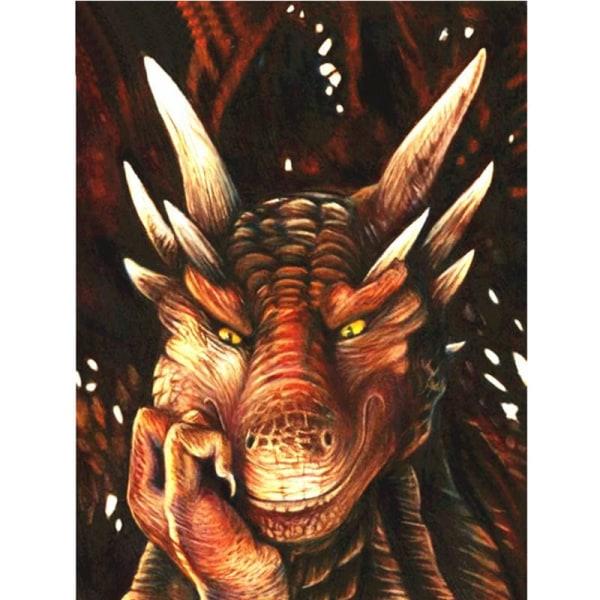 Full 5D DIY Diamond Målning Dragon Full Round Broderi Craft Wall Som på bilden 1