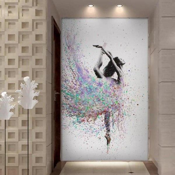 Full 5D DIY Diamond Painting Cross Stitch Akvarell Dansare Brode Som på bilden 1